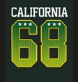 athletic california vector image vector image