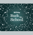 back to school green background vector image vector image