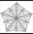 beautiful monochrome contour mandala vector image vector image