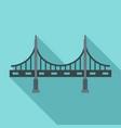 big metal bridge icon flat style vector image vector image