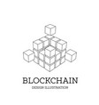 blockchain in the form of vector image vector image