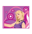 blonde cartoon vector image vector image