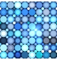 Blue abstract shining dots seamless pattern vector image vector image
