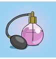 Bottle perfume pop art style vector image vector image