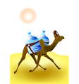 Camel rescuer vector image vector image