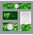 Cards with texture of green leaves vector image vector image