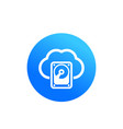 cloud data storage hosting icon vector image
