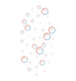 colorful bubbles icon realistic style vector image