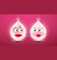 cute funky shaggy fluffy toys in love cartoon vector image vector image