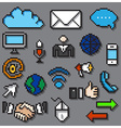 Digital Pixel Communication Icons Set vector image vector image
