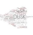 dusk word cloud concept vector image vector image
