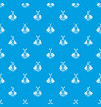 electric guitar pattern seamless blue vector image vector image