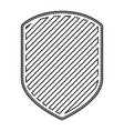 emblem in monochrome dotted contour and striped vector image vector image