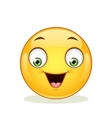 Emoticon with happy face vector image