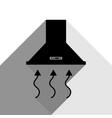 exhaust hood range hood kitchen ventilation sign vector image vector image