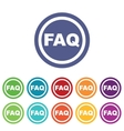 FAQ signs colored set vector image vector image