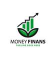 financial natural business logo vector image vector image