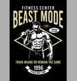 fitness center beast mode vector image