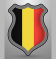 flag of belgium badge and icon vector image