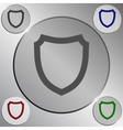 Flat paper cut style icon of a shield vector image vector image