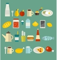 Food icon set vector image vector image