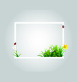 frame with spring motive vector image vector image