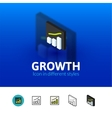 Growth icon in different style vector image vector image