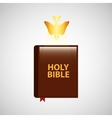 holy bible with holy bible design icon vector image vector image