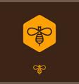 honey logo bee icon hexagon infinity vector image vector image