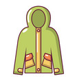 hooded jacket icon cartoon style vector image vector image