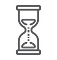 hourglass line icon development and business vector image vector image