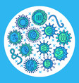 human viruses poster with symbols in line style vector image vector image