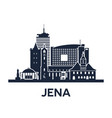 jena city skyline germany thuringia solid color vector image vector image