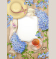 lilac on wooden background vector image vector image