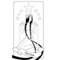 major arcana tarot cards the star beautiful girl vector image
