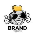 modern cartoon character toaster logo vector image vector image