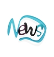 News word drawn lettering typographic element vector image vector image