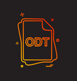 odt file type icon design vector image