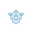 playing pirates linear icon concept playing vector image