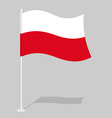 Poland flag Official national symbol of Polish vector image