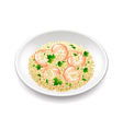 Risotto isolated on white vector image vector image