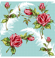 rose pattern with plume vector image vector image