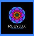 ruby luxury logo - jewelry shop vector image vector image