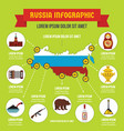 russia infographic concept flat style vector image vector image