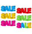 Sale 3D Design vector image vector image