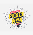sale banner memphis style with geometric shapes vector image vector image