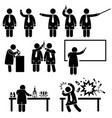 scientist professor science lab pictograms a set vector image