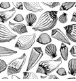 sea shells seamless pattern hand drawn vector image vector image