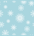 seamless snowflakes for winter and christmas theme vector image