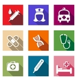 set flat healthcare and medical icons vector image vector image
